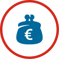 icon money pouch with red circle